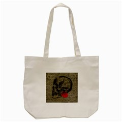 Skull And Rose  Tote Bag (cream) by Valentinaart