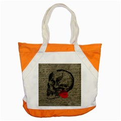 Skull And Rose  Accent Tote Bag
