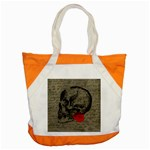 Skull and rose  Accent Tote Bag Front