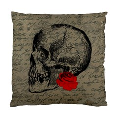 Skull And Rose  Standard Cushion Case (one Side) by Valentinaart