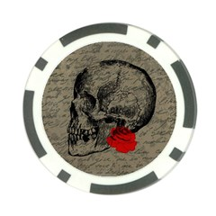 Skull And Rose  Poker Chip Card Guard (10 Pack) by Valentinaart