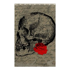 Skull And Rose  Shower Curtain 48  X 72  (small)  by Valentinaart
