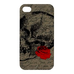 Skull And Rose  Apple Iphone 4/4s Hardshell Case by Valentinaart