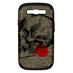 Skull And Rose  Samsung Galaxy S Iii Hardshell Case (pc+silicone) by Valentinaart