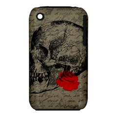 Skull And Rose  Iphone 3s/3gs by Valentinaart