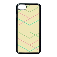 Abstract Yellow Geometric Line Pattern Apple Iphone 7 Seamless Case (black)