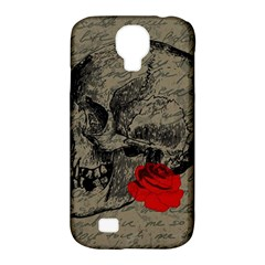 Skull And Rose  Samsung Galaxy S4 Classic Hardshell Case (pc+silicone) by Valentinaart