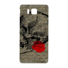Skull And Rose  Samsung Galaxy Alpha Hardshell Back Case by Valentinaart