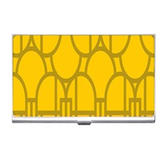 The Michigan Pattern Yellow Business Card Holders