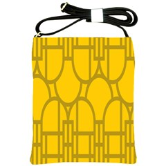 The Michigan Pattern Yellow Shoulder Sling Bags by Simbadda