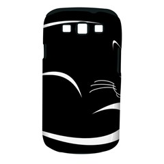 Cat Black Vector Minimalism Samsung Galaxy S Iii Classic Hardshell Case (pc+silicone)