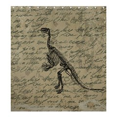 Dinosaur Skeleton Shower Curtain 66  X 72  (large)  by Valentinaart