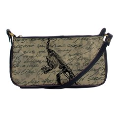 Dinosaur Skeleton Shoulder Clutch Bags by Valentinaart