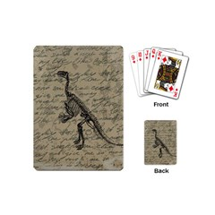 Dinosaur Skeleton Playing Cards (mini)  by Valentinaart