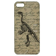 Dinosaur Skeleton Apple Iphone 5 Hardshell Case With Stand by Valentinaart