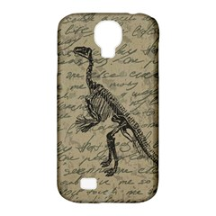 Dinosaur Skeleton Samsung Galaxy S4 Classic Hardshell Case (pc+silicone) by Valentinaart