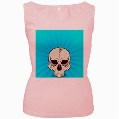 Skull Ball Line Schedule Women s Pink Tank Top