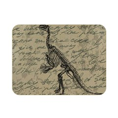 Dinosaur Skeleton Double Sided Flano Blanket (mini)  by Valentinaart