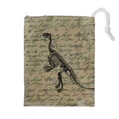 Dinosaur Skeleton Drawstring Pouches (extra Large) by Valentinaart
