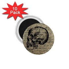 Skull 1 75  Magnets (10 Pack)  by Valentinaart