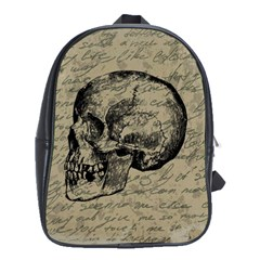 Skull School Bags(large)  by Valentinaart