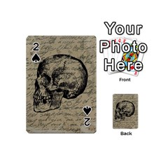 Skull Playing Cards 54 (mini)  by Valentinaart