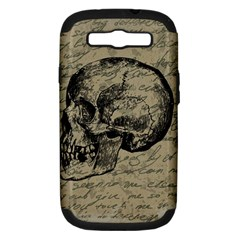 Skull Samsung Galaxy S Iii Hardshell Case (pc+silicone) by Valentinaart