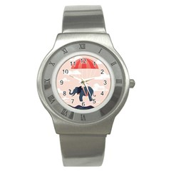 Digital Slon Parashyut Vektor Stainless Steel Watch by Simbadda