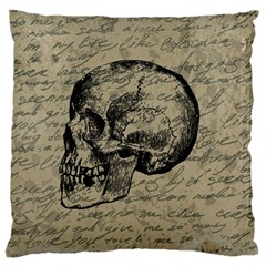 Skull Large Flano Cushion Case (two Sides) by Valentinaart