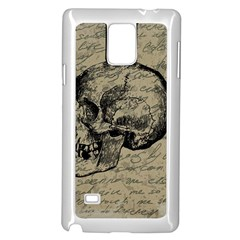 Skull Samsung Galaxy Note 4 Case (white) by Valentinaart