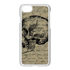 Skull Apple Iphone 7 Seamless Case (white) by Valentinaart