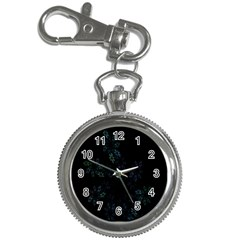 Fractal Pattern Black Background Key Chain Watches by Simbadda