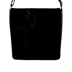 Fractal Pattern Black Background Flap Messenger Bag (l)  by Simbadda