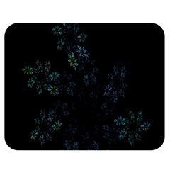 Fractal Pattern Black Background Double Sided Flano Blanket (medium)  by Simbadda