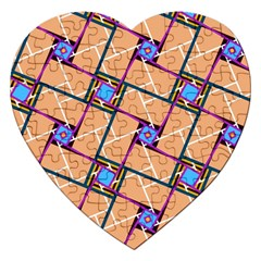 Overlaid Patterns Jigsaw Puzzle (heart)