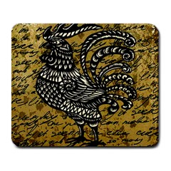 Vintage Rooster  Large Mousepads