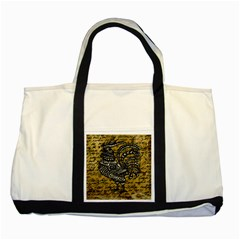 Vintage Rooster  Two Tone Tote Bag by Valentinaart