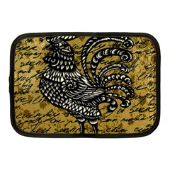 Vintage Rooster  Netbook Case (medium)  by Valentinaart