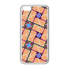 Overlaid Patterns Apple Iphone 5c Seamless Case (white)