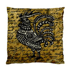 Vintage Rooster  Standard Cushion Case (two Sides) by Valentinaart