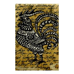 Vintage Rooster  Shower Curtain 48  X 72  (small)  by Valentinaart