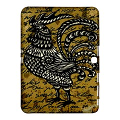 Vintage Rooster  Samsung Galaxy Tab 4 (10 1 ) Hardshell Case  by Valentinaart