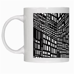 Recursive Subdivision Between 5 Source Lines Screen Black White Mugs by Simbadda