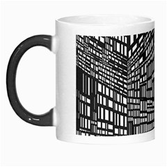 Recursive Subdivision Between 5 Source Lines Screen Black Morph Mugs by Simbadda