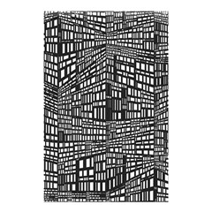 Recursive Subdivision Between 5 Source Lines Screen Black Shower Curtain 48  X 72  (small)  by Simbadda