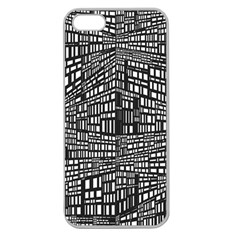 Recursive Subdivision Between 5 Source Lines Screen Black Apple Seamless Iphone 5 Case (clear) by Simbadda