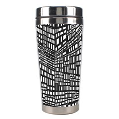 Recursive Subdivision Between 5 Source Lines Screen Black Stainless Steel Travel Tumblers