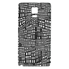 Recursive Subdivision Between 5 Source Lines Screen Black Galaxy Note 4 Back Case