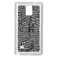 Recursive Subdivision Between 5 Source Lines Screen Black Samsung Galaxy Note 4 Case (white)