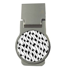 Black And White Pattern Money Clips (round)  by Simbadda